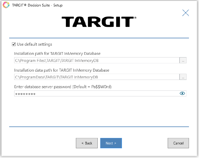 targit_configuration_inmemory_database.png